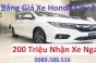 Bảng Giá Xe Honda City 2018 Rẻ Nhất Với 200 Triệu Nhận Xe Ngay Tại Hà Nội Việt Nam